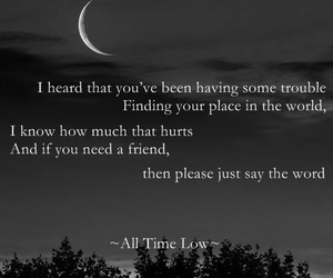 Lyrics, all time low, and missing you image