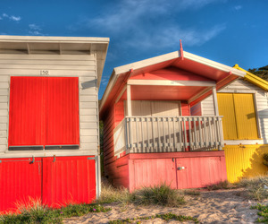 beach, bold, and color image