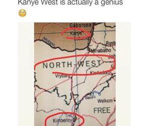 kanye west, funny, and kim kardashian image