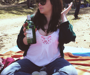 cherry blossoms, gin, and jeans image