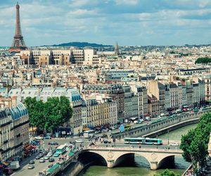 bridge, paris, and Seine image