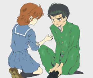 keiko, couple anime, and yu yu hakusho image