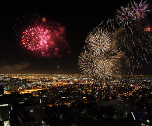 fireworks, city, and luxury image