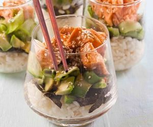 food, sushi, and salad image