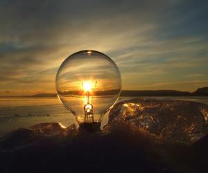 light, sun, and sunset image