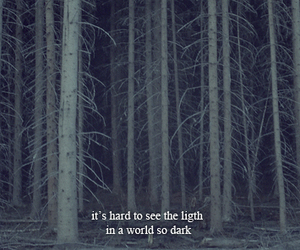 dark, light, and quote image