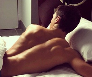bed, body, and men image