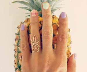 ring, nails, and pineapple image