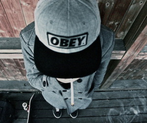 obey, boy, and cap image
