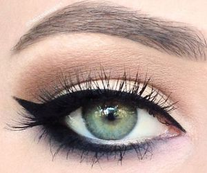 eyeshadow, beautiful, and eyebrows image