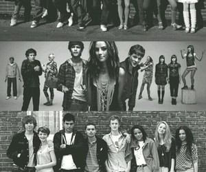 skins and black and white image