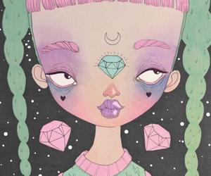 dark, goth, and diamonds image