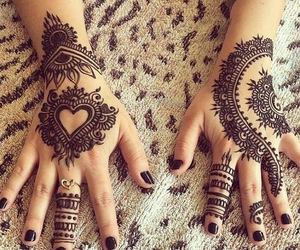 Mehndi Heart Tattoo Design : Images about mehndi henna love 💮 on we heart it see more