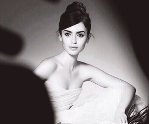 beauty, white, and lily collins image
