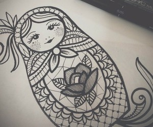 tattoo, drawing, and idea image