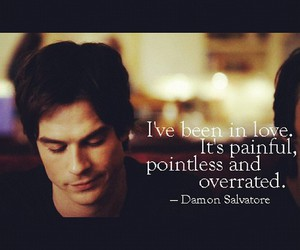 love, damon, and damon salvatore image