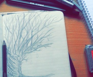 drawing, moleskine, and notebook image