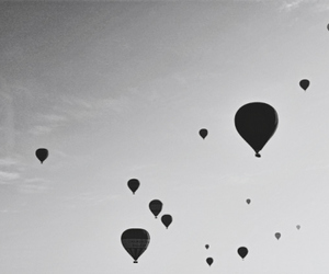 balloons, beautiful, and black image