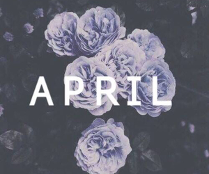 april, flower, and purple image