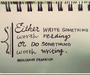 franklin, quote, and writing image