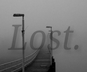 lost, sad, and dark image