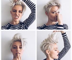 hair, short, and beauty image