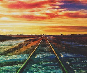 beautiful, sunset, and travel image