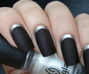 nails, black, and silver image