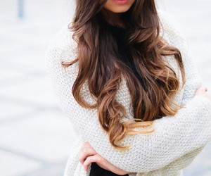 hair, style, and sweater image