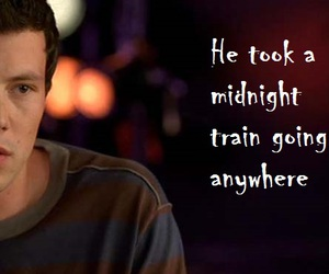 glee, cory monteith, and don't stop believing image