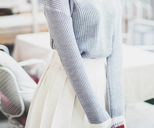 skirt, outfit, and sweater image