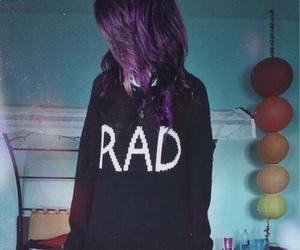 rad, grunge, and hair image