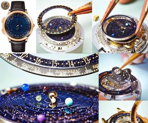 watch, galaxy, and planets image
