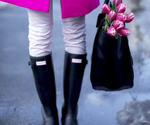 pink, flowers, and style image