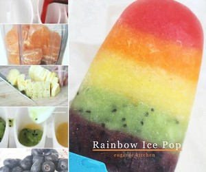 fruit, healthy, and rainbow image