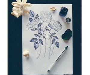 art, flor, and rose image