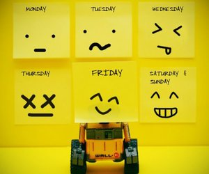 wall-e, friday, and monday image