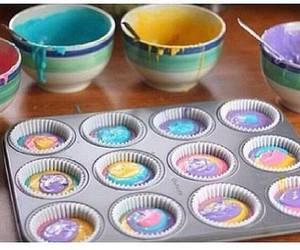 cupcake, food, and colors image