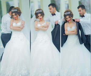 beautiful, wedding day, and cute image