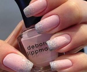 fashion, glitters, and nails image