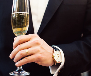 champagne, man, and suit image