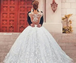 dress, wedding, and loveit image