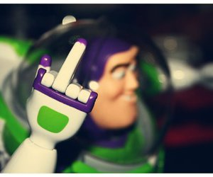 buzz lightyear, middle finger, and fuck image