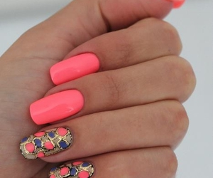 coral, fashion, and girl image
