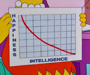 happiness, intelligence, and simpsons image