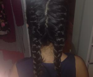 braid, braids, and brunette image