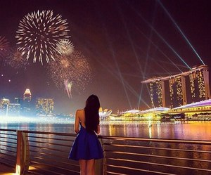 fashion, fireworks, and night image