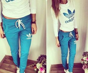 adidas, blue, and style image