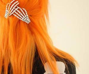 fashion, orange, and pelo image
