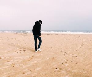 beach, dark, and grunge image
